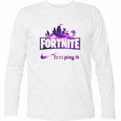 Футболка з довгим рукавом Fortnite just play it