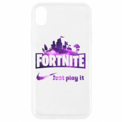 Чохол для iPhone XR Fortnite just play it