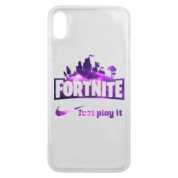 Чохол для iPhone Xs Max Fortnite just play it