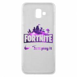 Чохол для Samsung J6 Plus 2018 Fortnite just play it