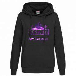 Толстовка жіноча Fortnite just play it