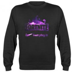Реглан (світшот) Fortnite just play it