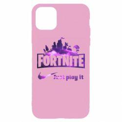 Чохол для iPhone 11 Pro Max Fortnite just play it