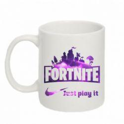 Кружка 320ml Fortnite just play it
