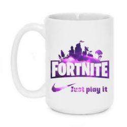 Кружка 420ml Fortnite just play it