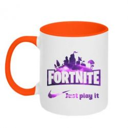 Кружка двоколірна 320ml Fortnite just play it