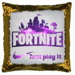 Подушка-хамелеон Fortnite just play it