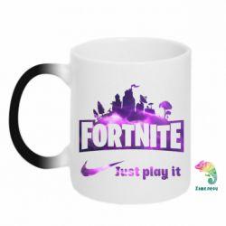 Кружка-хамелеон Fortnite just play it