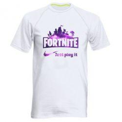 Чоловіча спортивна футболка Fortnite just play it