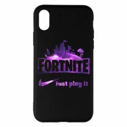 Чохол для iPhone X/Xs Fortnite just play it