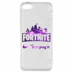 Чохол для iphone 5/5S/SE Fortnite just play it