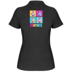 Жіноча футболка поло Fortnite Llamas
