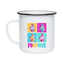 Кружка емальована Fortnite Llamas