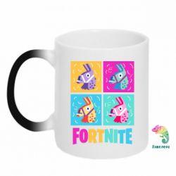 Кружка-хамелеон Fortnite Llamas