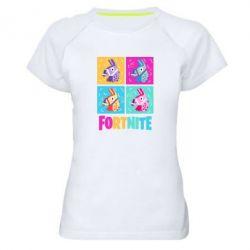 Жіноча спортивна футболка Fortnite Llamas