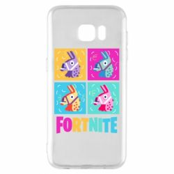 Чехол для Samsung S7 EDGE Fortnite Llamas