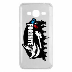 Чохол для Samsung J3 2016 Fortnite logo and heroes