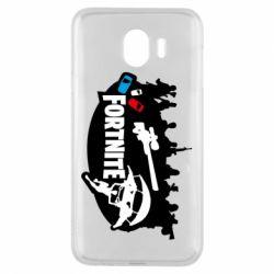 Чехол для Samsung J4 Fortnite logo and heroes