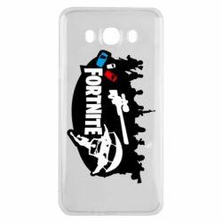 Чехол для Samsung J7 2016 Fortnite logo and heroes