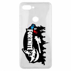 Чехол для Xiaomi Mi8 Lite Fortnite logo and heroes