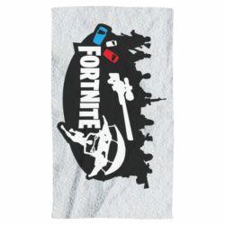 Полотенце Fortnite logo and heroes