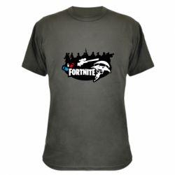 Камуфляжная футболка Fortnite logo and heroes