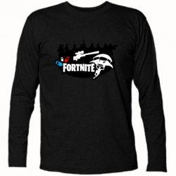 Футболка з довгим рукавом Fortnite logo and heroes