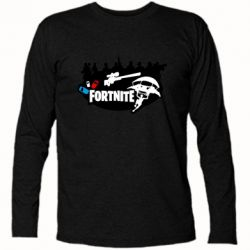 Футболка с длинным рукавом Fortnite logo and heroes
