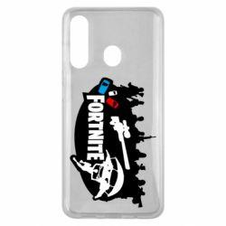 Чехол для Samsung M40 Fortnite logo and heroes
