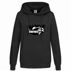 Толстовка жіноча Fortnite logo and heroes