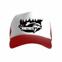 Детская кепка-тракер Fortnite logo and heroes