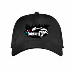 Детская кепка Fortnite logo and heroes