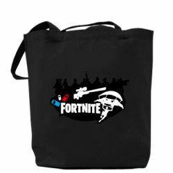 Сумка Fortnite logo and heroes