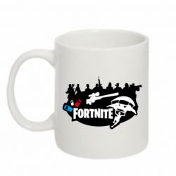 Кружка 320ml Fortnite logo and heroes