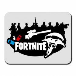 Килимок для миші Fortnite logo and heroes