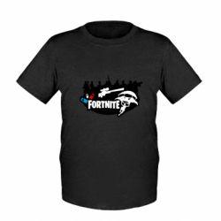 Детская футболка Fortnite logo and heroes