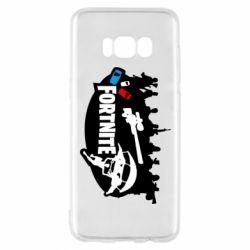 Чехол для Samsung S8 Fortnite logo and heroes