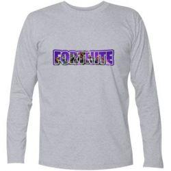 Футболка з довгим рукавом Fortnite logo and image