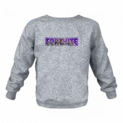 Дитячий реглан (світшот) Fortnite logo and image