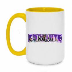 Кружка двоколірна 420ml Fortnite logo and image