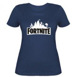 Жіноча футболка Fortnite logo