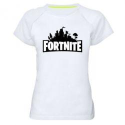 Жіноча спортивна футболка Fortnite logo