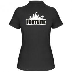 Жіноча футболка поло Fortnite logo