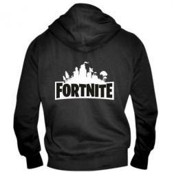 Чоловіча толстовка на блискавці Fortnite logo