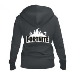 Жіноча толстовка на блискавці Fortnite logo