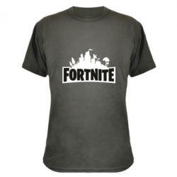 Камуфляжна футболка Fortnite logo