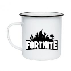 Кружка емальована Fortnite logo