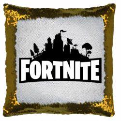 Подушка-хамелеон Fortnite logo