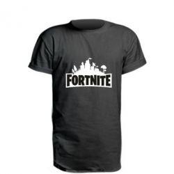 Подовжена футболка Fortnite logo
