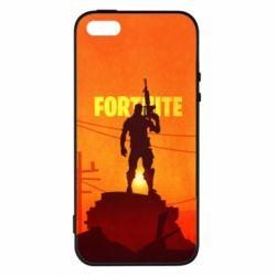 Чехол для iPhone5/5S/SE Fortnite minimalist silhouettes